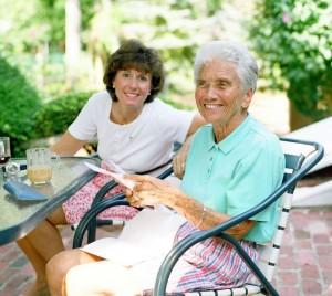A parent with Alzheimer's