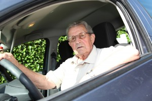 Elderly Dad Driving Car