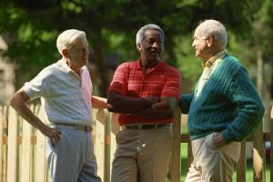 three seniot men