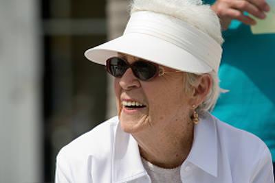 Miami senior smiling on an outing.