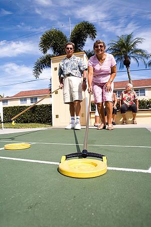 Miami seniors playing shuffleboard