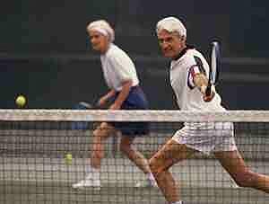 Miami seniors playing tennis