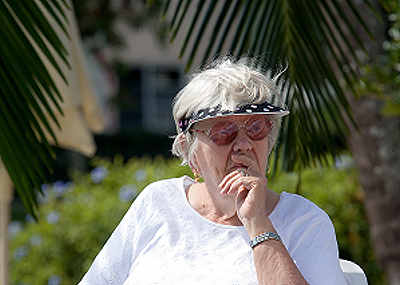old woman suffering holiday depression