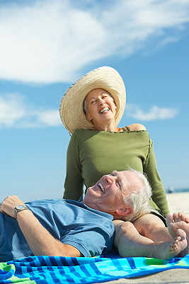 Seniors long and healthy life on a Miami Beach